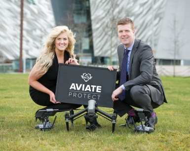 Lana Cairns, driving force behind Aviate Protect and Marketing Manager at Find Insurance NI; Colin Mullan, Director at Find Insurance NI.