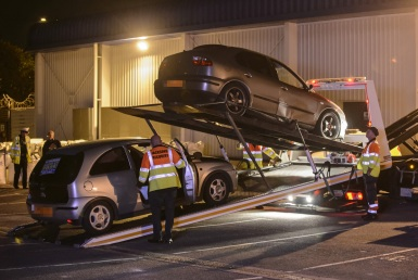 Police seizing uninsured vehicles in the West Midlands