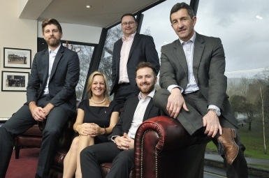 Thomas-Carroll-Group-L-R-Greg-Edwards-(Real-Estate-Account-Executive)-Alison-Davies-(Managing-Director)-Gareth-Cotty-(Director)-Cerith-Bevan-(Real-Estate-Account-Executive)-&-Rob-Jones-MBE-(Regional-Director)