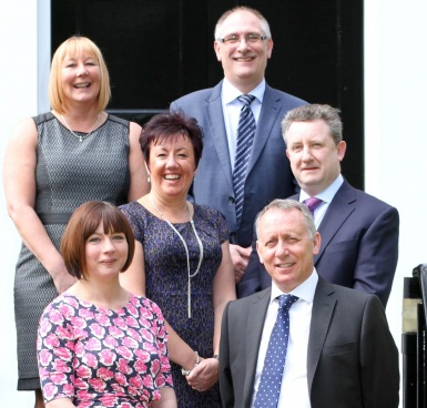 The Wilson Organisation team - L-R - Susan Blackley, Charlotte Perkins, Fiona Mitchell, Mark Minton, Neil Tennant and John Procter