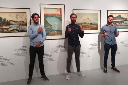 Founders-of-Obvious,-the-Paris-based-art-collective:-Pierre-Fautrel,-Hugo-Caselles-Dupré-and-Gauthier-Vernier