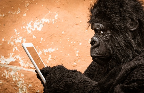 Ape-with-digital-technology