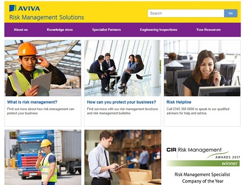 Aviva-redesigns-its-Risk-Management-website